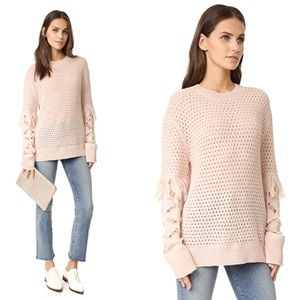 TANYA TAYLOR - Naomi Fringe Sweater Cream, M